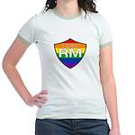 gayRM Rainbow Shield Jr. Ringer T-shirt
