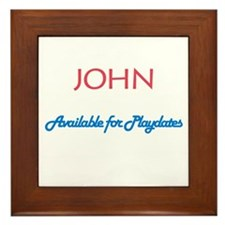 John - Available for Playdate Framed Tile