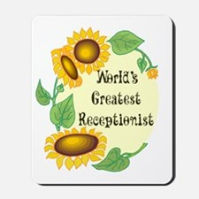 World's Greatest Receptionist Mousepad