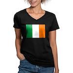 Ireland Women's V-Neck Dark T-Shirt