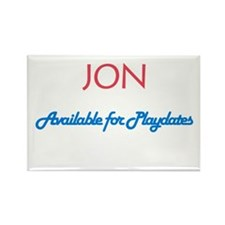 Jon - Available for Playdates Rectangle Magnet (10
