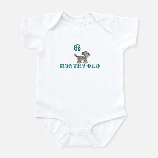 6 months old grey dog Infant Bodysuit
