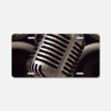 Microphone Aluminum License Plate