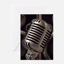 Microphone Greeting Cards