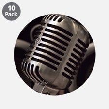 """Microphone 3.5"""" Button (10 pack)"""