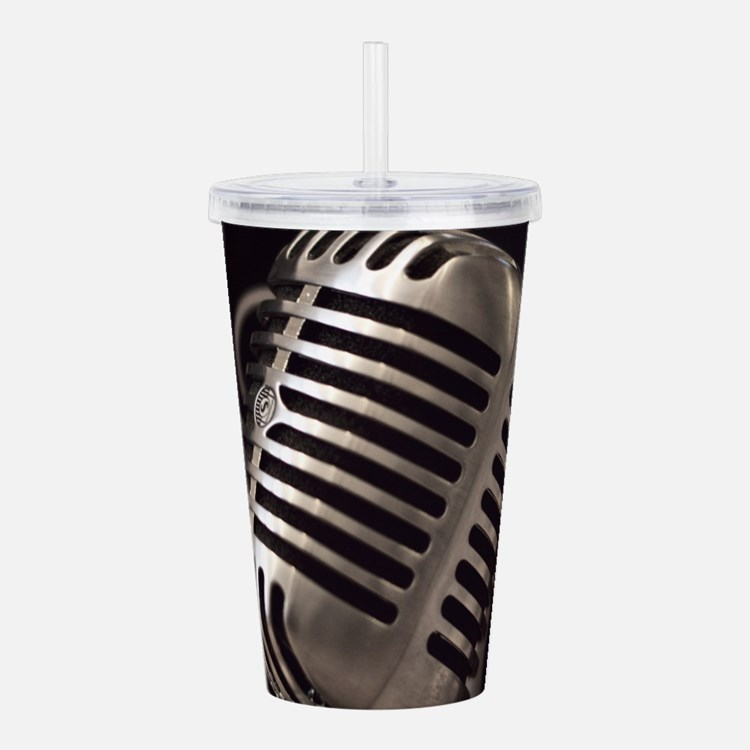 Microphone Acrylic Double-wall Tumbler