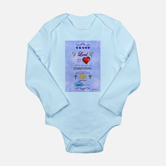 Proverbs 3:5-6 Blue Body Suit