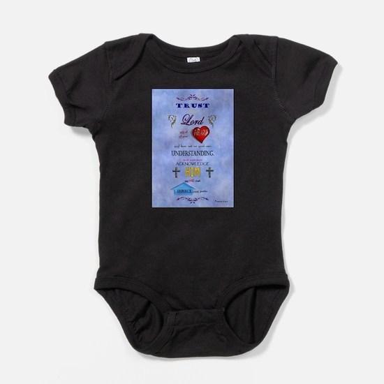 Proverbs 3:5-6 Blue Baby Bodysuit