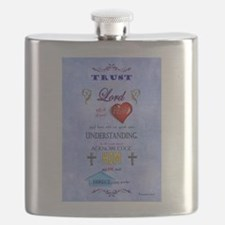 Proverbs 3:5-6 Blue Flask