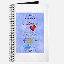 Proverbs 3:5-6 Blue Journal