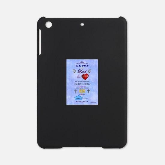 Proverbs 3:5-6 Blue iPad Mini Case