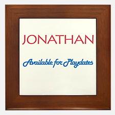 Jonathan - Available for Play Framed Tile