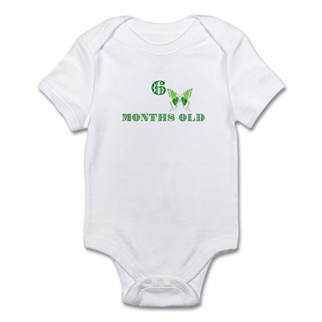 6 months old green butterfly Infant Bodysuit
