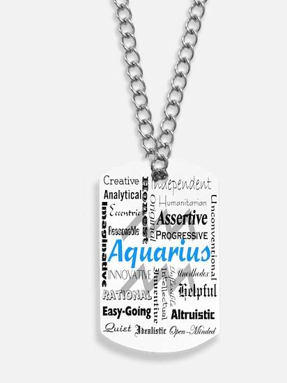 Aquarius Collage Dog Tags