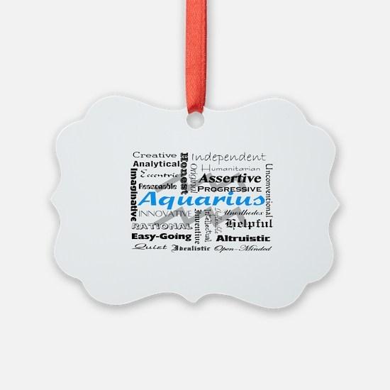 Aquarius Collage Ornament