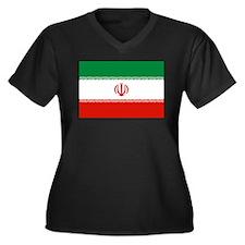 Iran Women's Plus Size V-Neck Dark T-Shirt