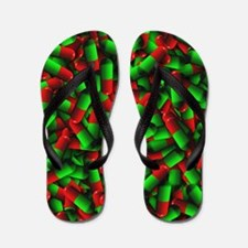 red green pills Flip Flops