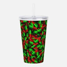 red green pills Acrylic Double-wall Tumbler