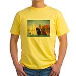 Sailboats / Dachshund Yellow T-Shirt