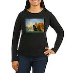Sailboats / Dachshund Women's Long Sleeve Dark T-S