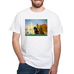 Sailboats / Dachshund White T-Shirt