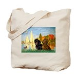 Sailboats / Dachshund Tote Bag