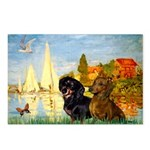 Sailboats / Dachshund Postcards (Package of 8)