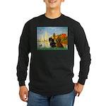 Sailboats / Dachshund Long Sleeve Dark T-Shirt