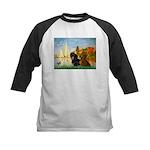 Sailboats / Dachshund Kids Baseball Jersey