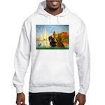 Sailboats / Dachshund Hooded Sweatshirt