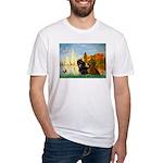 Sailboats / Dachshund Fitted T-Shirt