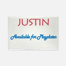 Justin - Available for Playda Rectangle Magnet (10