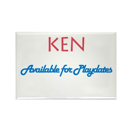 Ken - Available for Playdates Rectangle Magnet (10