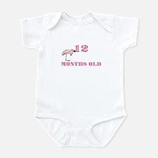 12 months old flamingo Infant Bodysuit