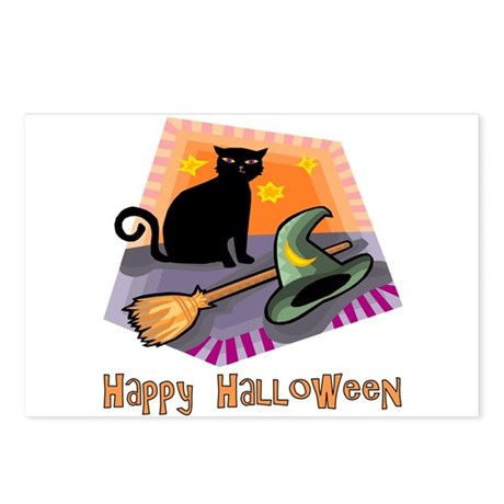 Cat & Witches Gear Postcards (Package of 8)