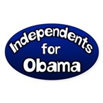 Independents for Obama bumper sticker