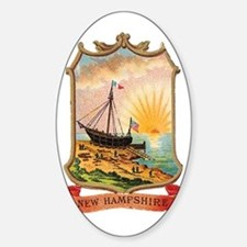 New Hampshire Coat of Arms Oval Decal