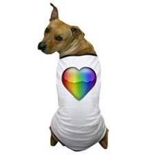 Rainbow Heart 2 Dog T-Shirt
