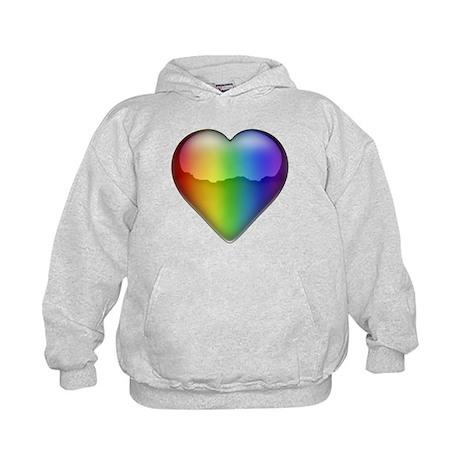Rainbow Heart 2 Kids Hoodie