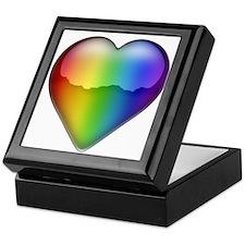 Rainbow Heart 2 Keepsake Box