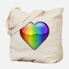 Rainbow Heart 2 Tote Bag