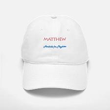 Matthew - Available for Playd Baseball Baseball Cap