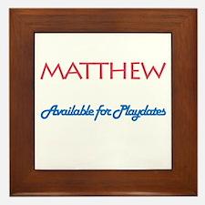 Matthew - Available for Playd Framed Tile