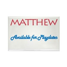 Matthew - Available for Playd Rectangle Magnet (10