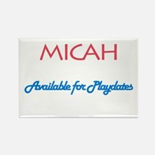 Micah - Available for Playdat Rectangle Magnet (10