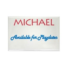 Michael - Available for Playd Rectangle Magnet (10