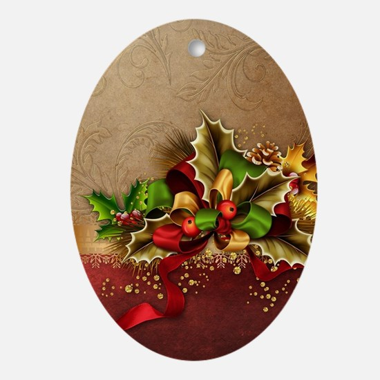 Christmas Decor Oval Ornament