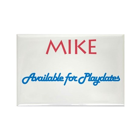 Mike - Available for Playdate Rectangle Magnet (10