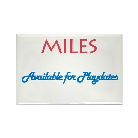 Miles - Available for Playdat Rectangle Magnet (10