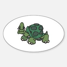 Stubborn Turtle Oval Decal